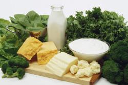 Употребление продуктов богатых кальцием