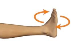 Вращательные движения голеностопным суставом
