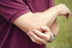 Боль и отек при растяжении локтевого сустава