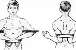 Иммобилизация при переломе ключицы с помощью палки