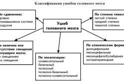 Классификация ушибов головного мозга