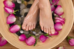 Лечебные ванночки из трав для ног